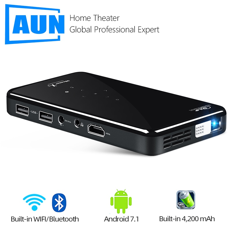 AUN mini portable projector X2